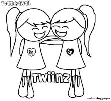 The Twiinz colouring pages by suzzie456
