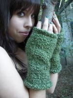 Forest Fey Fingerless Gloves by VampyreCupcake