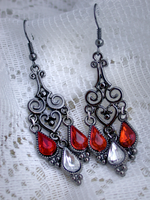 Heartdrop: Retro Earrings (avail4order) by ArtLoDesigns