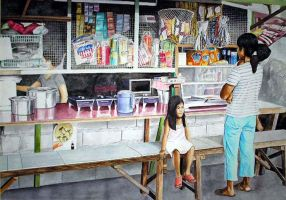 NAGHIHINTAY KAY INAY watercolor 20x27in by JASONS21