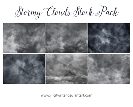 Stormy Clouds Stock Pack by IllicitWriter