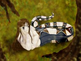Snake in the Grass - collab by kashuarashi