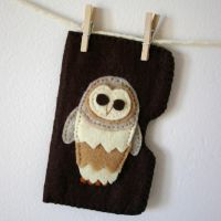 Custom Owl Card Holder by quirkandbramble