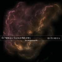 15 Nebula Cloud Brushes by Luminya