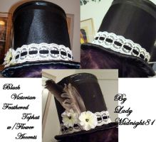 Black Victorian Tophat by LadyMidnight81