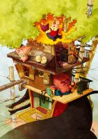 The three little pigs by Yaguete