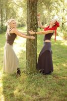 Tree huggers by M-y-r-a