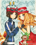 .Pkmn - Calem and Serena. by lNeko-Hime