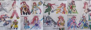 Erza Scarlet Armor List by Libra-Creates