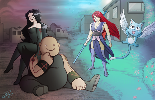 Commission: Full Metal Alchemist meets Fairy Tail by Holly-the-Laing
