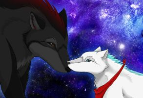 .:Under the nightsky:. by Ladyhorse