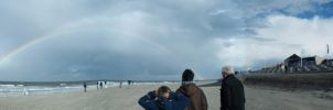 Rainbow above Norderney by Sabbelbina