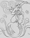 Shadowbox Sketch:  Avatar Aang by The-Paper-Pony