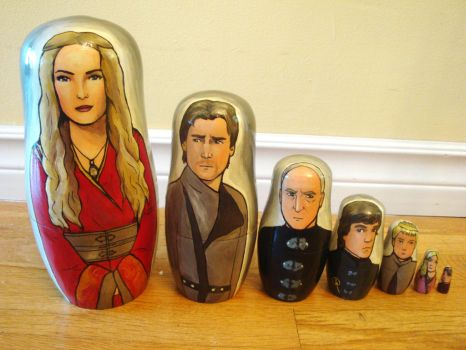 Set of Seven The Lannisters Nesting Dolls by bachel60