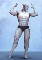 Lysaia - Front Double Bicep by ynorka