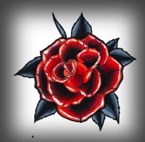black red rose by TimHag