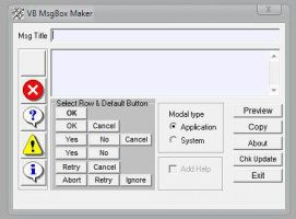 Win7 Tool    GUI .VBS MsgBox Maker 2012 by E-MC-2