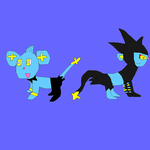 Shinx and Luxray for Pennywhistle by SuperSmashCynderLum