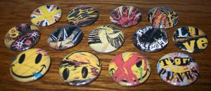 TWEWY Pins - Tigre Punks by Paradise-Props