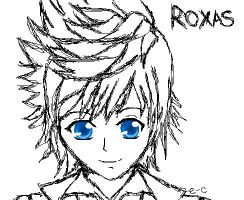 Roxas Pixel Sketch by Evil-Creampuffs