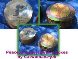 Peace and Angel Jewelry Boxes by Catwoman69y2k