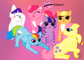 My Little KITTENS by AnScathMarcach