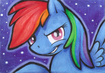 Rainbow Dash (ACEO) - For Sale by Shema-the-lioness