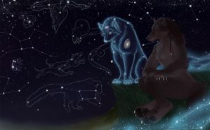 Wolves and stars by Eonixa
