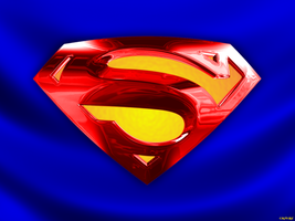 Superman Shield on blue cape by Crotale