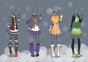 Winter Outfit Designs - sold by Nahemii-san