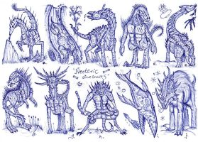 Neoteric dinosaurs by MickMcDee