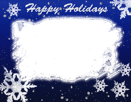 Blue snowflake christmas frame by daftopia
