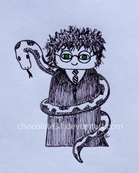 Harry And The Dark Snake by chocolate31