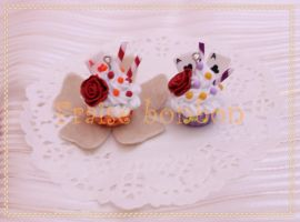 whimsical cup cake charms by Fraise-Bonbon