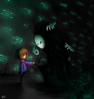 Gaster and Frisk by BelieveTheHorror