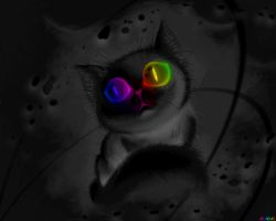 Cat ranbow dark by Arandas