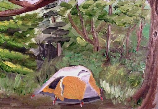 Campsite Sketch by Goalie89