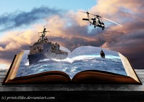 USS Comstock - PopUp Book by printsILike