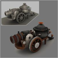 Steam Cannon by Diablera