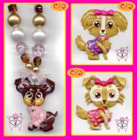 new dogs pendant group by vanessasan