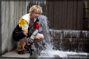Tidus- Above the Waterfall by twinfools