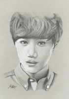 Jongin's Eyes by FallThruStardust