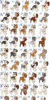 Free Canine Pack 1 CLOSE by lit-nebulosa