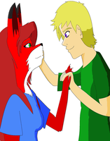 Foxgirl and Guy by supervanman64