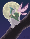 Puck the Gallade by Chari-Artist