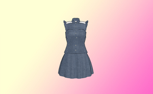 MMD Jean Dress by amiamy111
