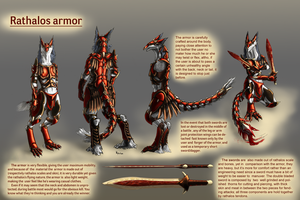 Commission - Rathalos Armor by kryvian