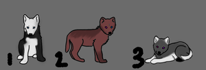 Puppy Adoptables by lutara123