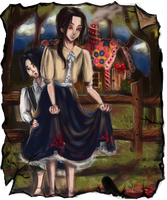 Itachi and Sasuke as Hansel and Gretel by waywardgal
