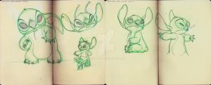 Stitch Drawings by crushing83